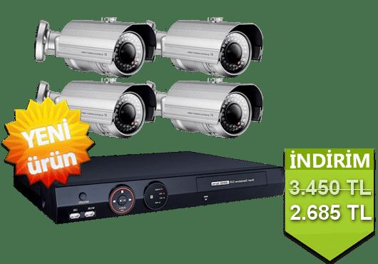 4 Kameralı Güvenlik Sistemi